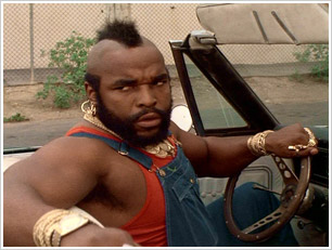Mr. T nei panni dell'originale B.A. Baracus, A - Team