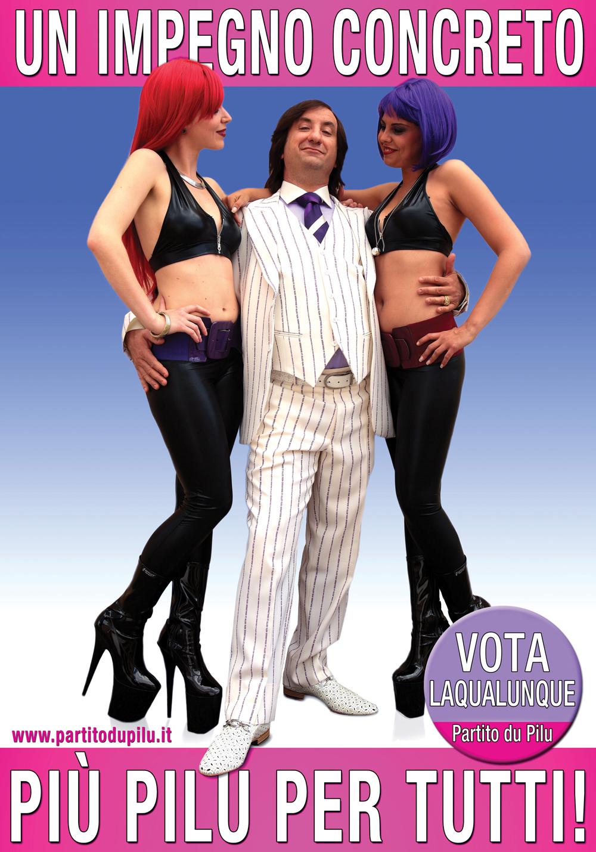 qualunquemente teaser poster 3 Parte la campagna elettorale di CettoLaQualunque Cchiu pilu pi tutti Trailer